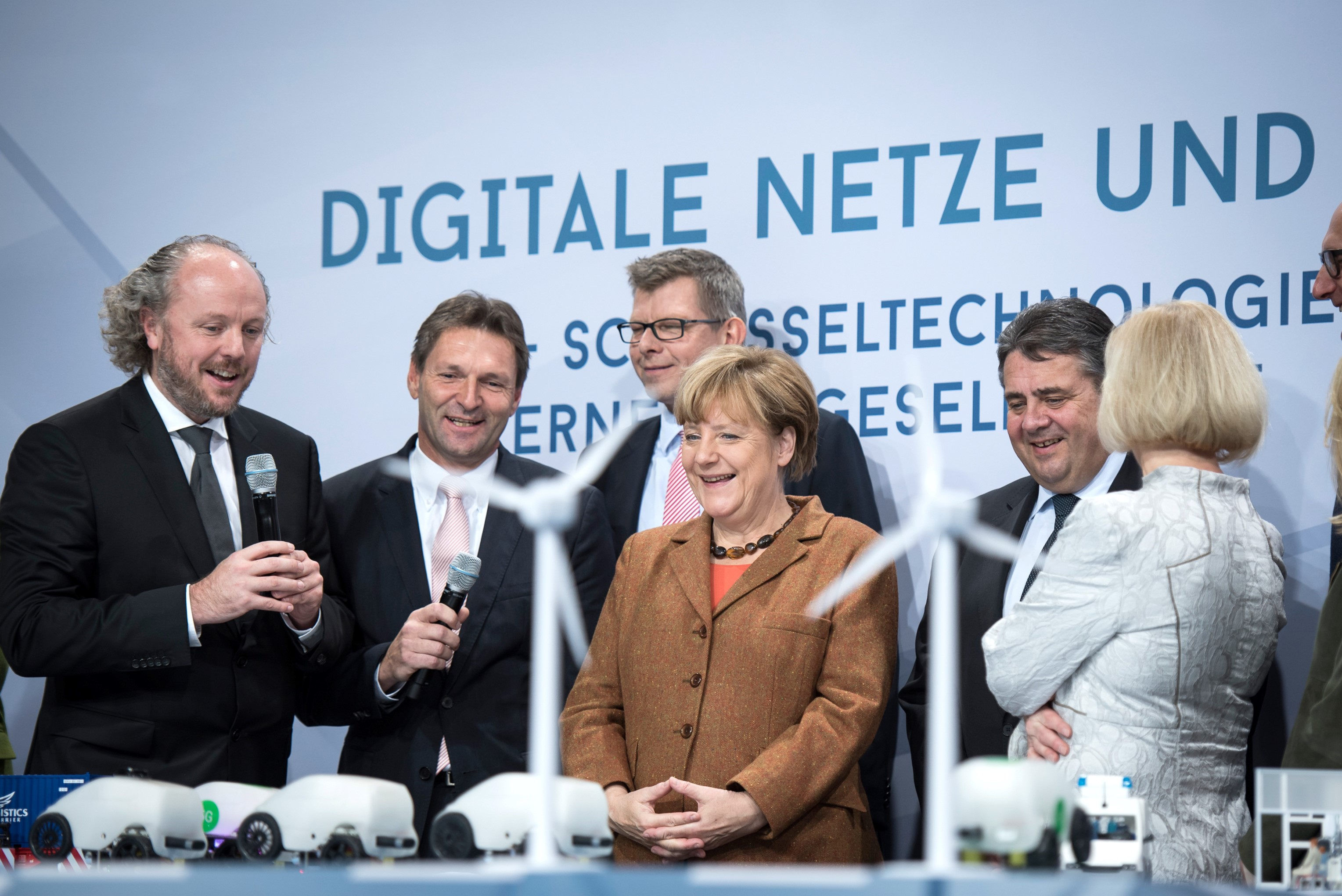 Chancellor Merkel with Prof. Fitzek